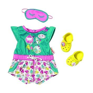Bath Shorty Pyjama mit Clogs BABY born Zapf Schlafanzug Puppenkleidung