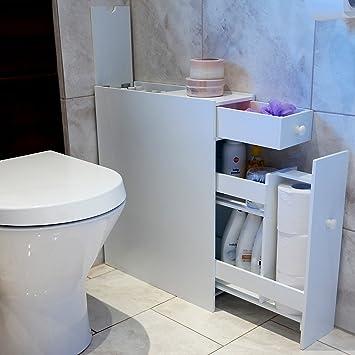 Wc schrank  Amazon.de: Marko Slimline Badezimmer-Schrank / Organizer mit WC ...