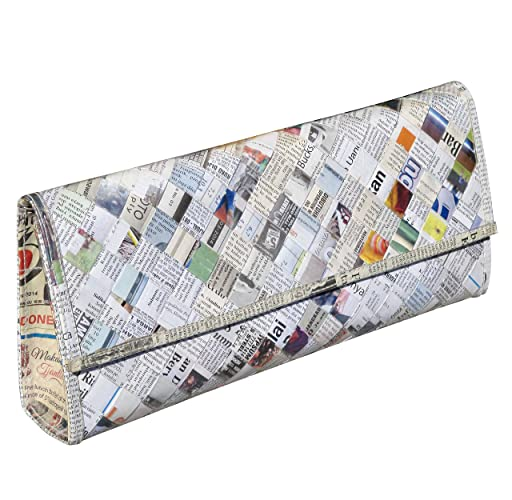 Amazon.com: Clutch purse using upcycled newspaper