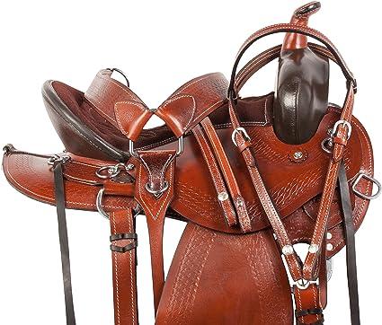14 15 16 WESTERN SYNTHETIC GAITED BAR HORSE PLEASURE TRAIL BARREL SADDLE TACK