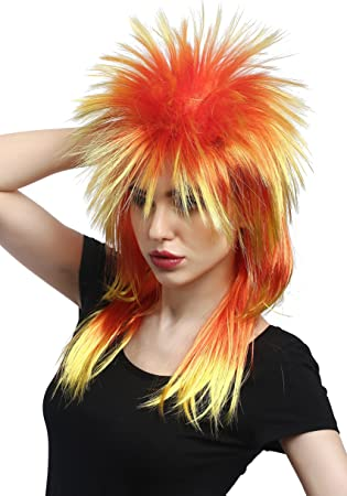 WIG ME UP ® - DH1069-PC2BTPC13 Peluca Carnaval Wave Punk roquero ...
