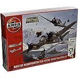 Airfix 1: 72Escala Bristol Beaufighter Mk. X Focke-Wulf FW190–8peleas Doubles Set de regalo Modelo Kit