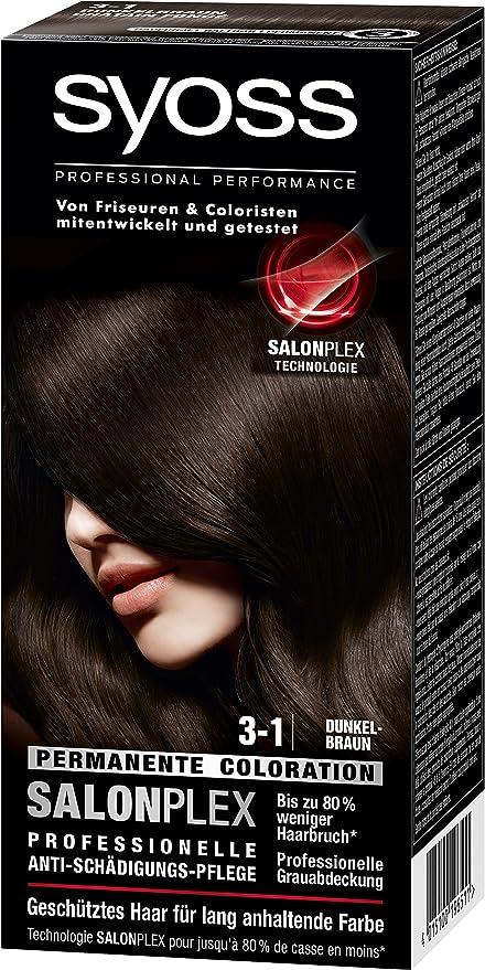 97d3cfa5 syoss 3 - 1 Color Marrón Oscuro Color del pelo (3 unidades, X 115 ml ...