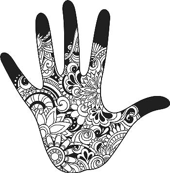 Amazon Com Hand With Pretty Henna Mandala Patterns Vinyl Decal