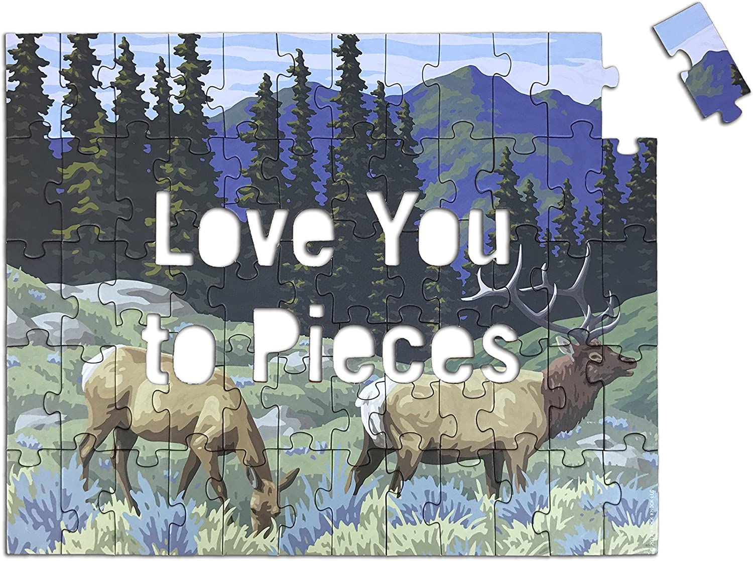 10077 Office Products Knock Knock Message Puzzle Love You to Pieces Knock Knock