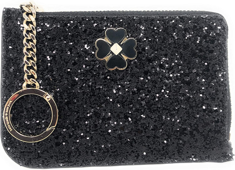 Kate Spade New York Medium L-Zip Card Holder Keychain Ring