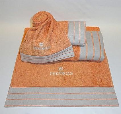 Juego de toallas ella 3 piezas, color crudo