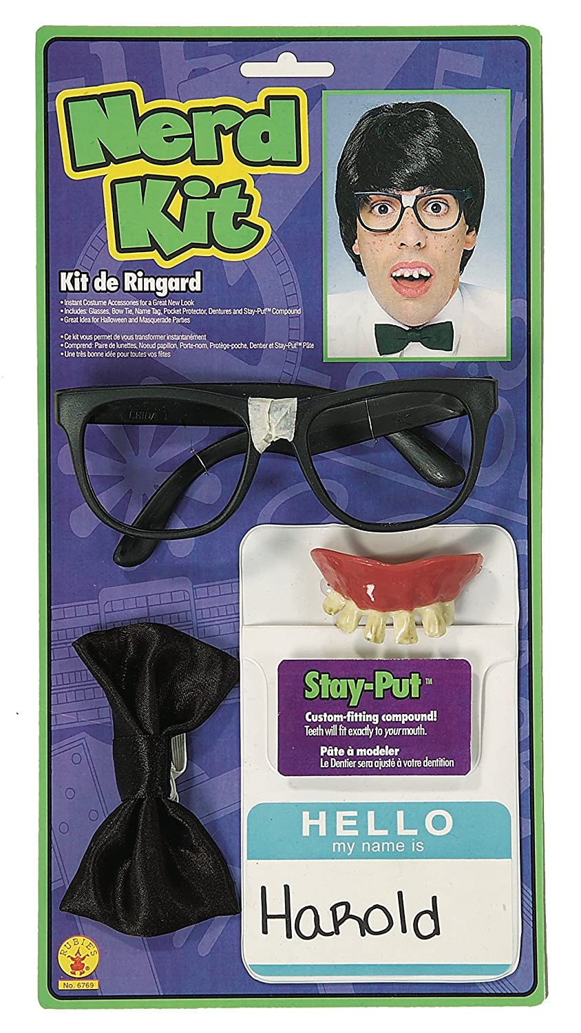 Rubies Costume Co (Canada) Instant Nerd Costume Accessory Kit Rubies Toys CA 6769