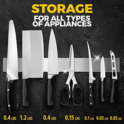 Buy Knife Magnetic Strip 16 Inch With Adhesive Magnetic Knife Holder For Wall No Screws Magnetic Knife Block Use As Kitchen Utensil Holder Knife Bar Knife Rack Kitchen Organizer And