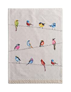 Maison d' Hermine Birdies On Wire 100% Cotton Set of 2 Kitchen Towels 20 Inch by 27.5 Inch