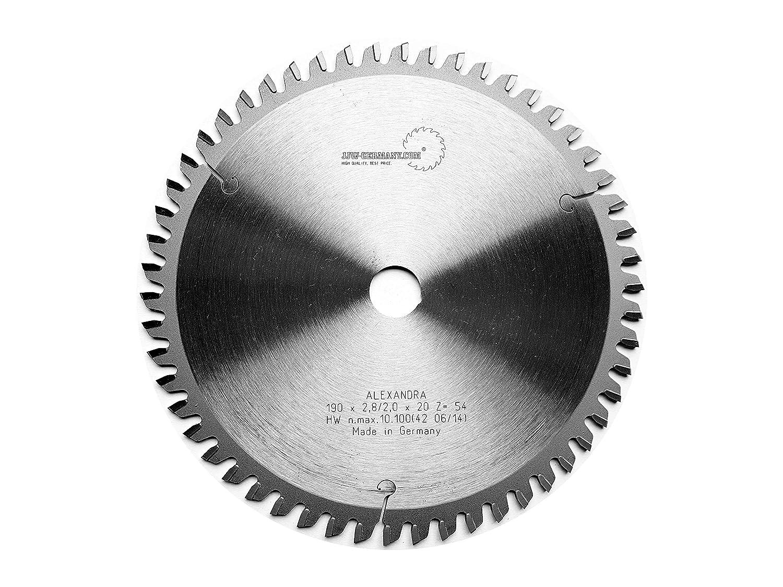 4250980690586 Hoja de sierra circular Alexandra 190x 20z = 54TF Multi material 1pieza jjw de Alemania HM