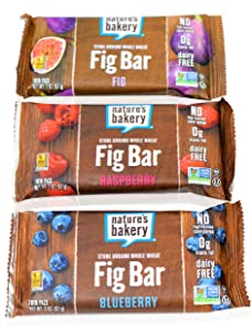 Nature's Bakery Whole Wheat Fig Bar, Raspberry, Fig, Blueberry (54 Count)