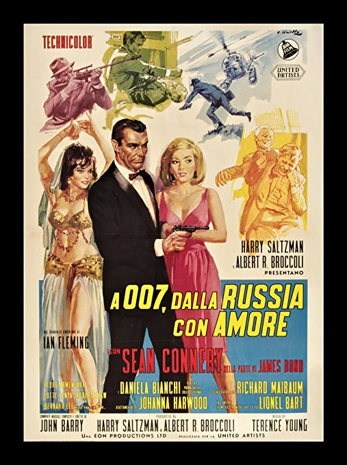 From Russia With Love  FILM MOVIE METAL TIN SIGN POSTER WALL PLAQUE