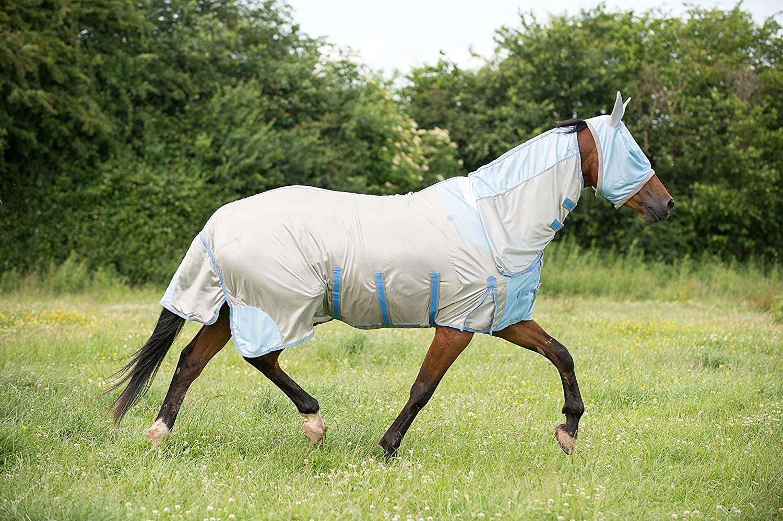 Gallop Alfombra para Moscas Todo en uno Plateado//Azul tama/ño de 57 Pulgadas