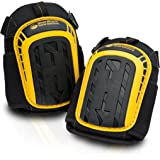 Professional Knee Pads with Layered Gel - Heavy Duty Foam Padding Kneepads - Cozy Gel Cushion Knee Pad - Strong Straps, Adjustable Clips - for Work, Cleaning, Gardening, Construction, Flooring