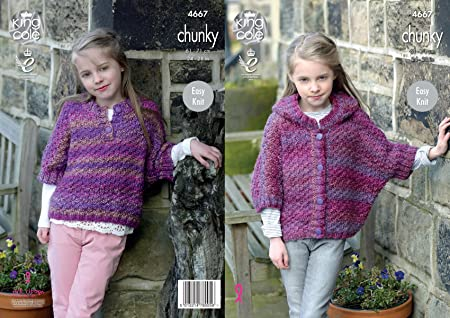 a5b70da8320b Image Unavailable. Image not available for. Colour  King Cole Girls Chunky  Knitting Pattern ...