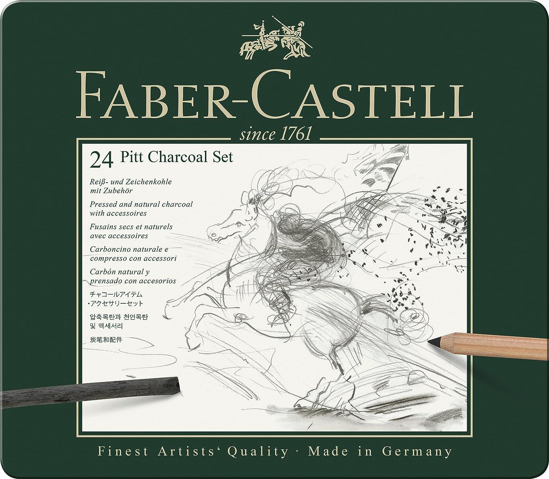Faber-Castel 24 Piece PITT Charcoal Set 112978