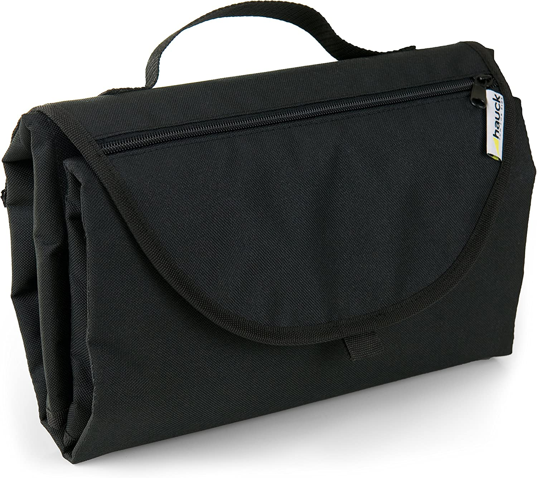 Hauck Tapis /à Langer Pliable pour B/éb/é Matelas de Voyage Portable avec Pochettes pour Couches Noir