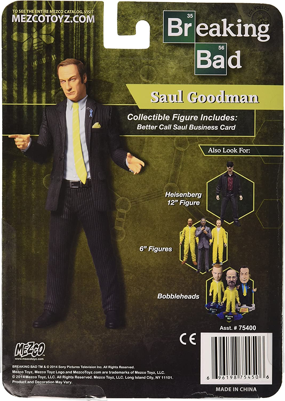 Mezco Toys Breaking Bad Figura Saul Goodman Green Shirt Previews Exclusive 15 cm