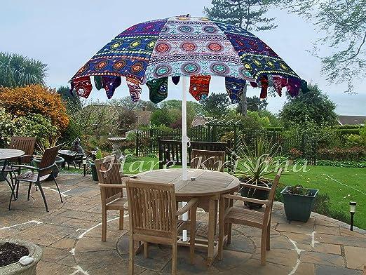 Hare Krishna Sombrilla Grande de algodón para jardín o Patio, 177,8 x 228,6 cm: Amazon.es: Juguetes y juegos