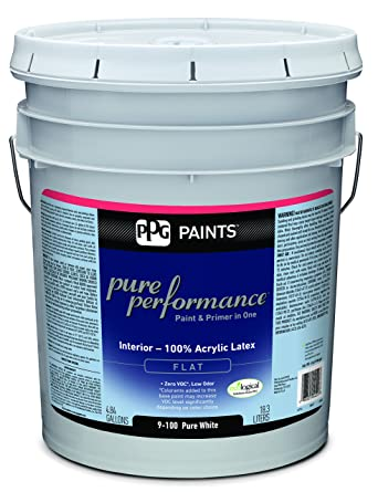 Gentil 9 100/05 Latex Paint, Pure Flat, 5 Gal, Pure Performance