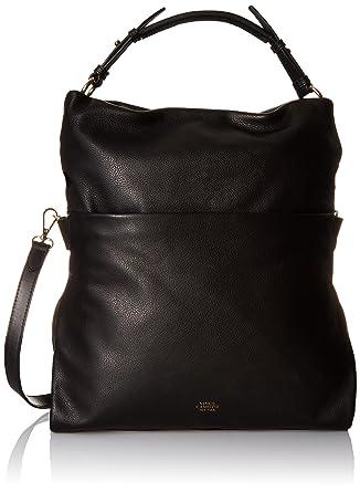 Vince Camuto Sydni Foldover Hobo Bag, Black, One Size: Handbags ...