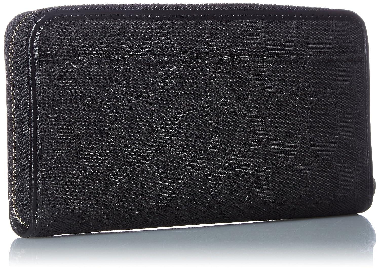 79dbd39ef82 Coach Outline Signature Accordion Zip Wallet - Black/Black at Amazon Women's  Clothing store: