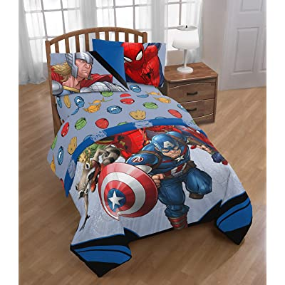 Marvel\'s Avengers \'Fight Club\' Twin Sheet Set: Home & Kitchen [5Bkhe0500544]