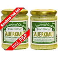 The Sauerkraut Company TRADITIONAL SAUERKRAUT (2 x 500g) Organic Ingredients, Unpasteurised, Probiotic!