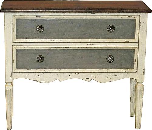 Pulaski Antique Distressed Accent Hall Drawer Chest, White