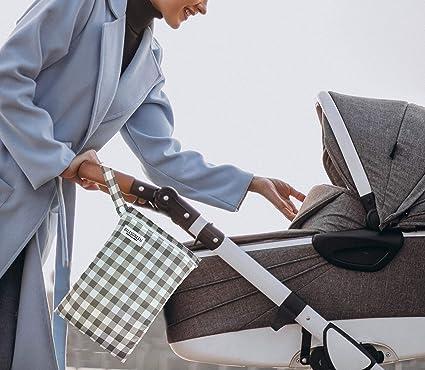 Eslesgreen 3x Bolsas para Pañales Reutilizable - Bolsas Impermeables con Cremallera para bañador - Organizador ropa bebé