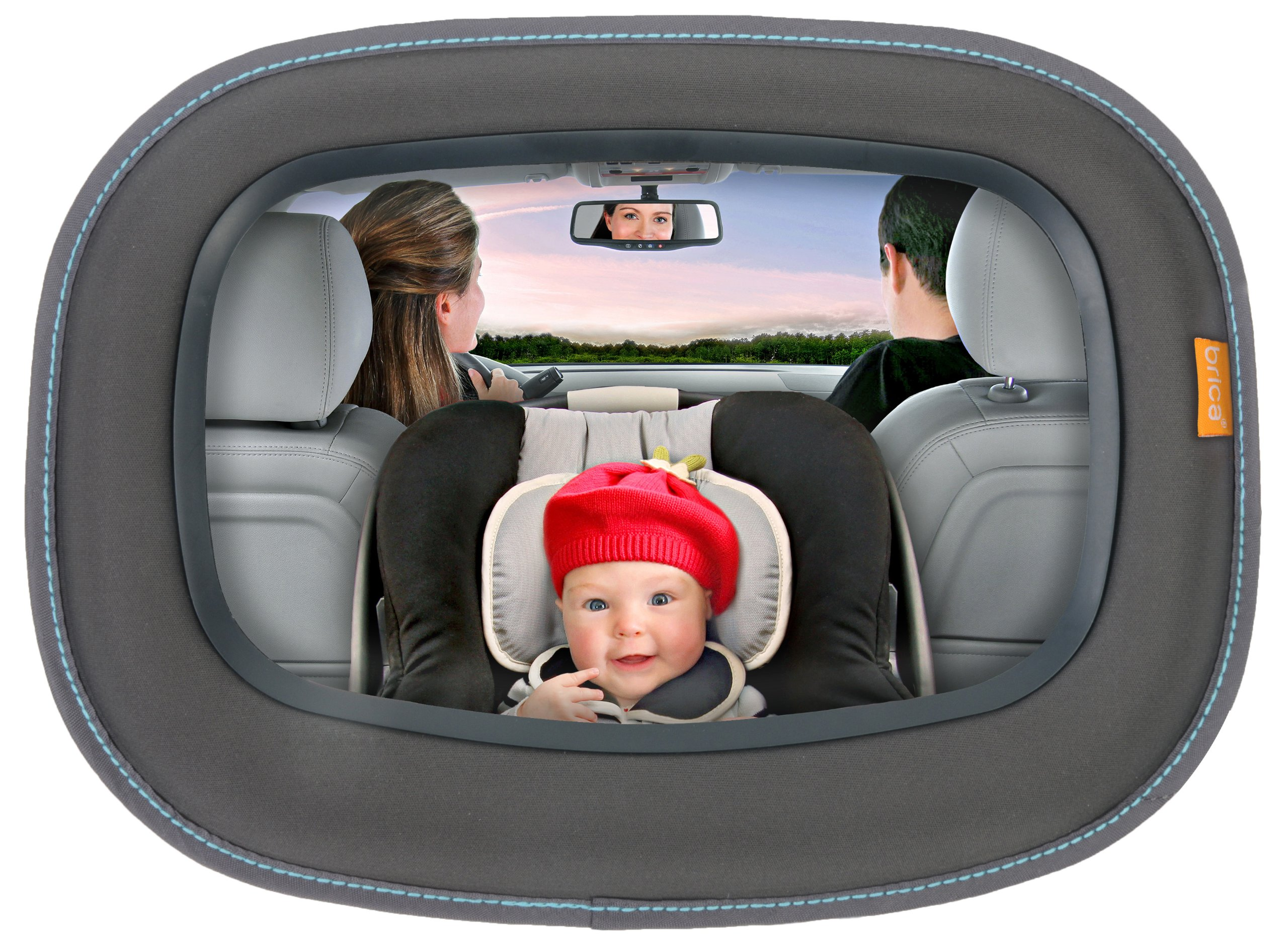 Brica Vivid Reflection Baby In-Sight Car Mirror, Crash Tested and Shatter Resistant by Brica (Image #2)