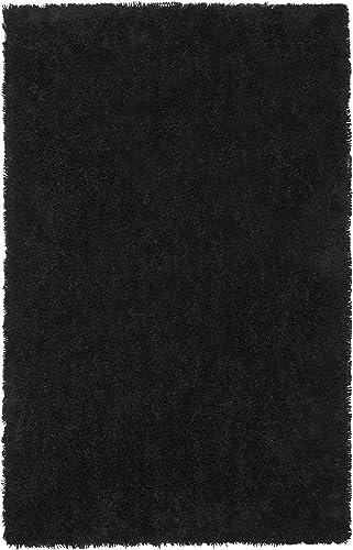 Safavieh Classic Shag Collection SG240L Handmade Black Area Rug 8 6 x 11 6
