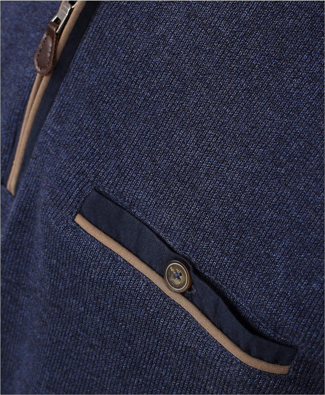 Redmond Herren Sweat-Shirt unifarben Brusttasche 100% Baumwolle Blau(19)