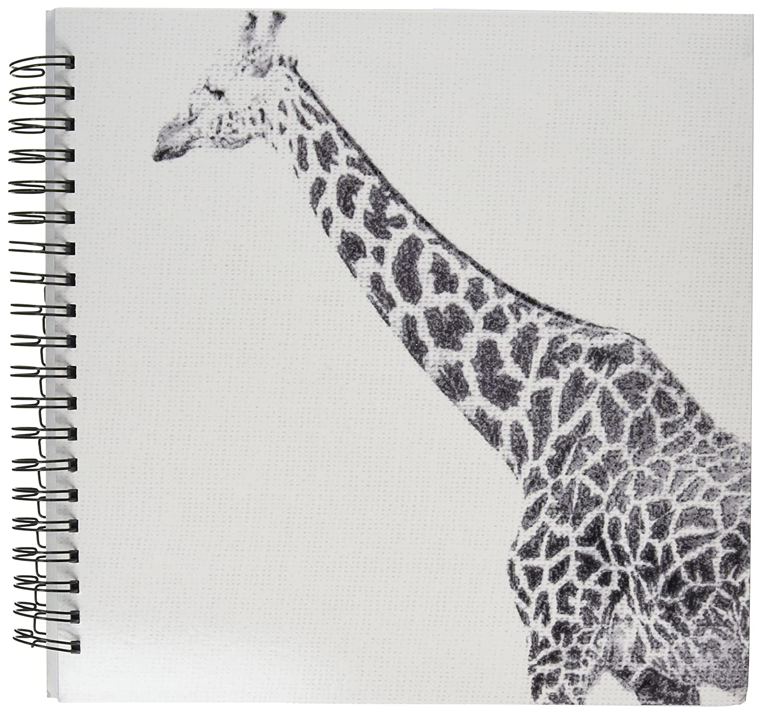 3drose db 47701 2 black and white giraffe sketch animals art memory book 12 by 12 inch amazon in office products