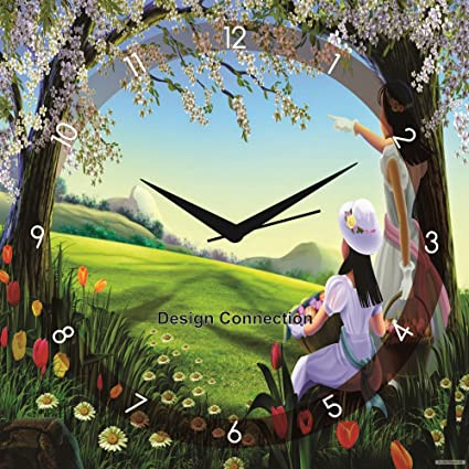 buy design connection generic scenery of nature wall clock online at