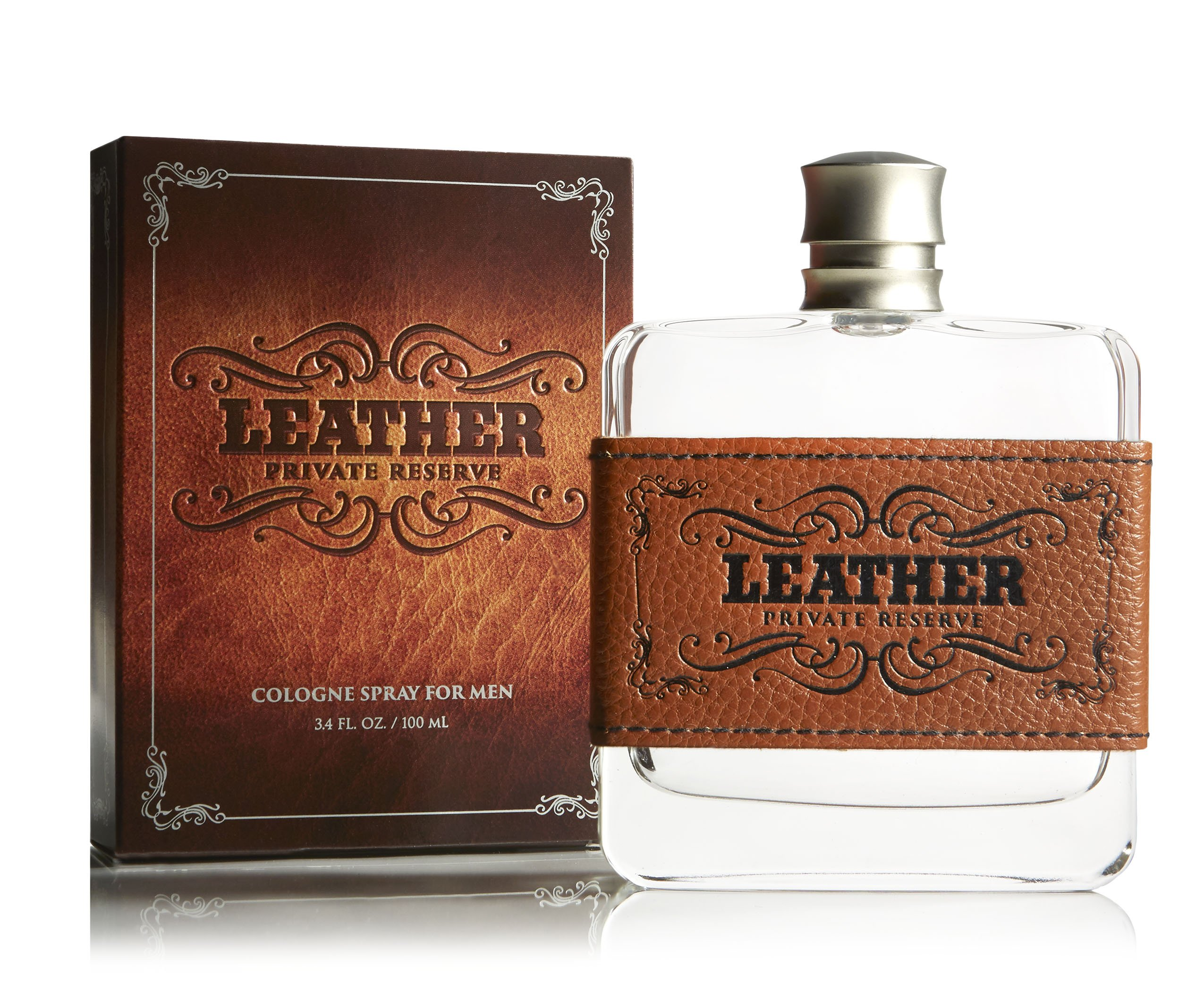 Leather Cologne - Natural and Authentic Fragrance Spray Perfume for Men - Masculine, Woody and Earthy With Notes of Cedarwood, Sun-worn Leather - 3.4 oz 100 ml