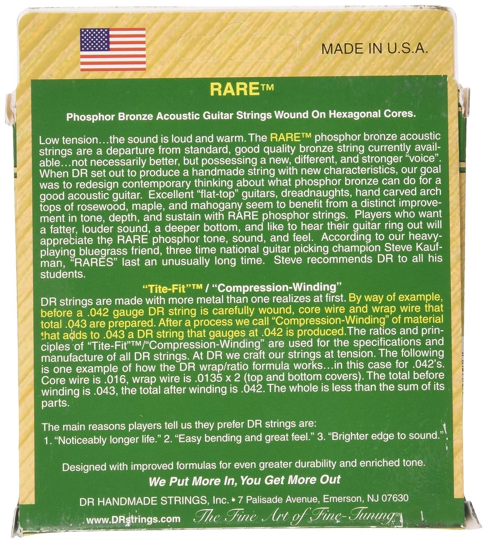 dr strings rare phosphor bronze acoustichex core 12