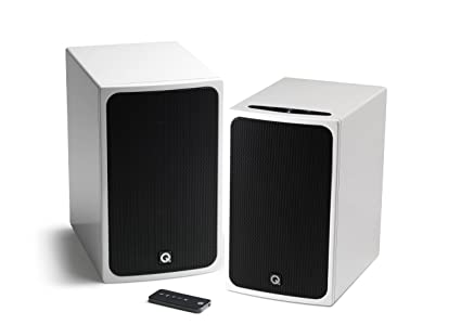 Gloss Black Q Acoustics BT3 Active Bluetooth Speaker Pair