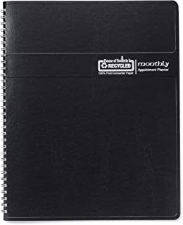 """product image for House of Doolittle 2017 Calendar Planner, Monthly, Black Cover, 8.5 x 11"""" (HOD26202-17)"""