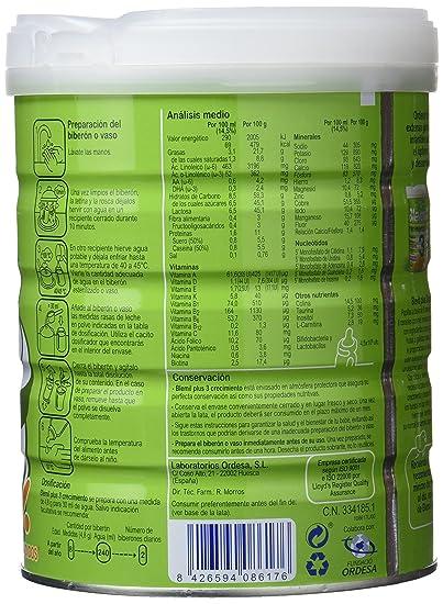 Blemil Plus 3 Leche de Crecimiento para Bebé - 800 gr: Amazon.es: Alimentación y bebidas