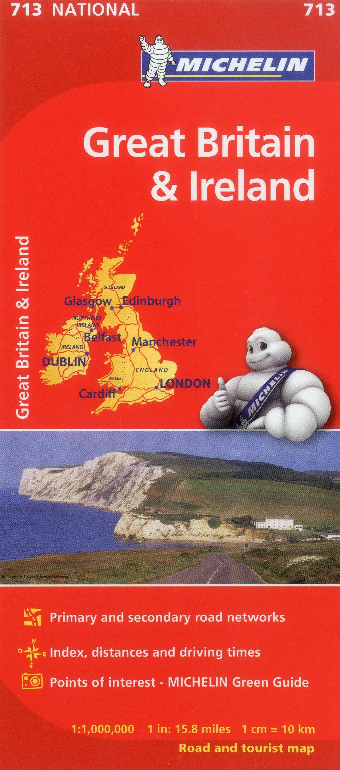 Mapa National Gran Bretaña Irlanda Mapas National Michelin Idioma ...
