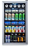 NewAir Beverage Cooler and Refrigerator, Mini Fridge with Glass Door, Perfect for Soda Beer or Wine, 126-Can Capacity, AB-1200