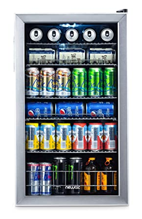 Nevera y refrigerador de bebidas NewAir, mini nevera con puerta de ...