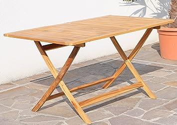 ASS BARBADOS Table de jardin pliante en bois d\'acacia traité 140 x ...