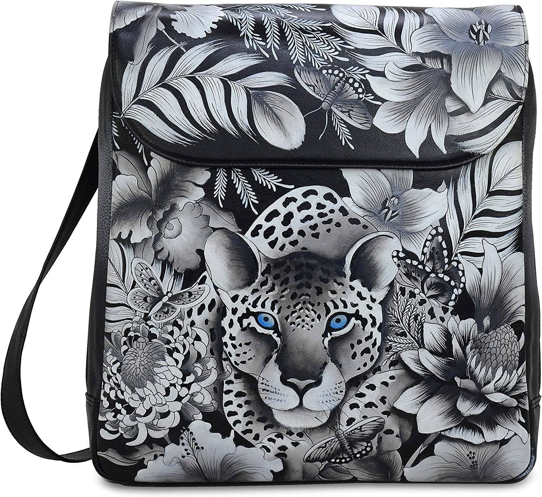 Hand Painted Original Artwork Anuschka Women/'s Genuine Leather Organizer Wallet Cleopatras Leopard