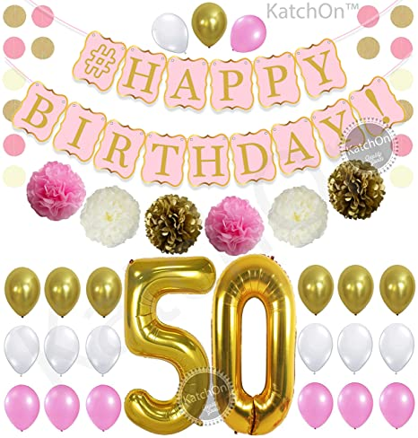 KatchOn 50th Birthday Decorations Kit