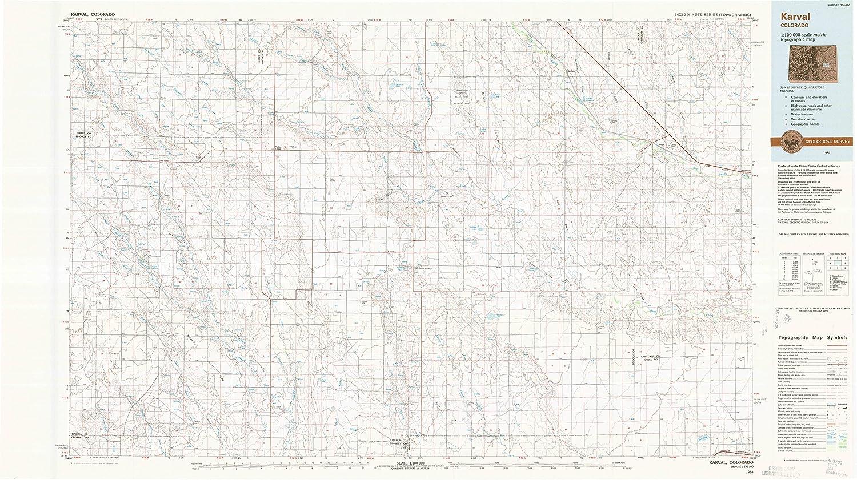 Amazon Com Yellowmaps Karval Co Topo Map 1 100000 Scale