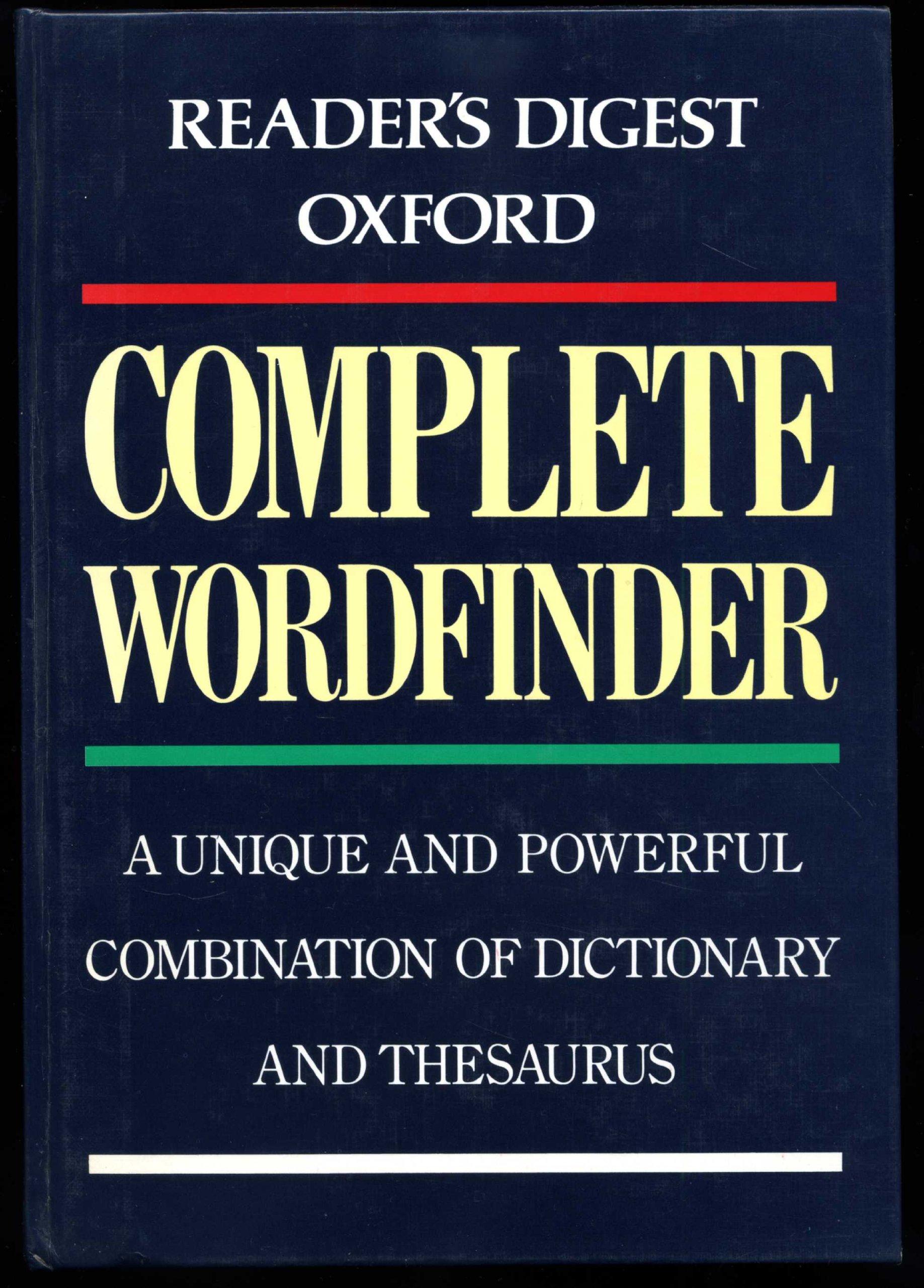 Reader's Digest Oxford Complete Wordfinder: Amazon.co.uk: Sara Tulloch:  9780276421013: Books