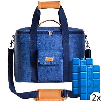 Kühltasche Thermotasche Isoliertasche Campingtasche 32 L blau